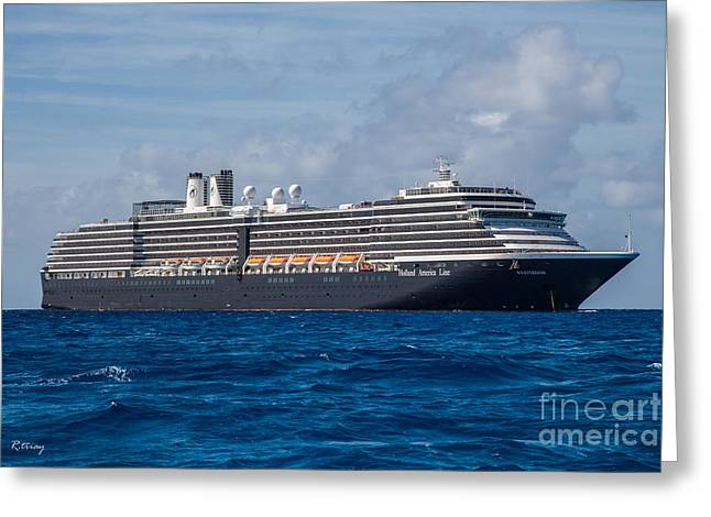 Toy Boat Greeting Cards - Holland America Westerdam Greeting Card by Rene Triay Photography