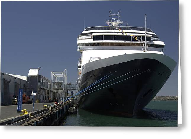San Diego Harbor Cruise Greeting Cards - Holland Cruise Line Greeting Card by See My  Photos