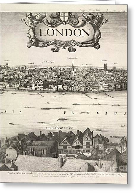 Hollar's Panorama Of London, 1647 Greeting Card by British Library