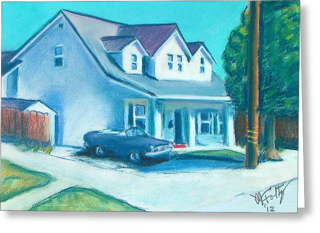 Original work Pastels Greeting Cards - Hollister Home Greeting Card by Michael Foltz