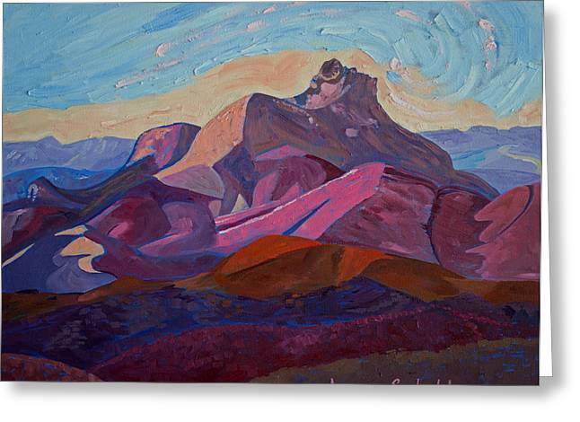 Bishops Peak Greeting Cards - Hollister Peak Greeting Card by Jayne Schelden