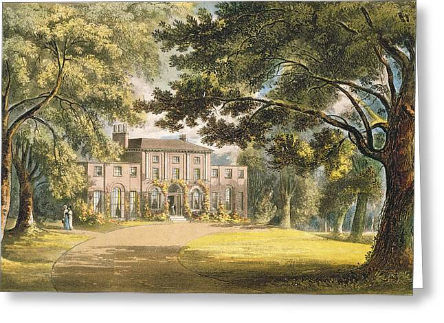 Creepers Greeting Cards - Holly Grove House, From Ackermanns Greeting Card by John Gendall