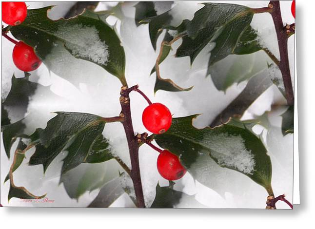 Rowe Digital Art Greeting Cards - Holly Jolly Christmas Greeting Card by Shana Rowe