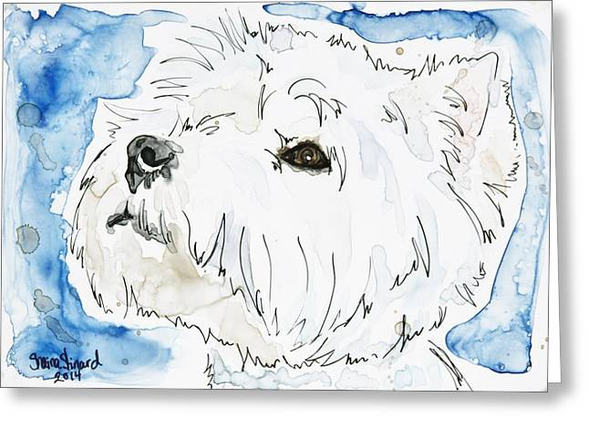 Pen And Paper Greeting Cards - Holly Greeting Card by Shaina Stinard