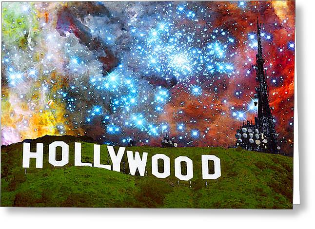 Motion Pictures Greeting Cards - Hollywood 2 - Home Of The Stars By Sharon Cummings Greeting Card by Sharon Cummings