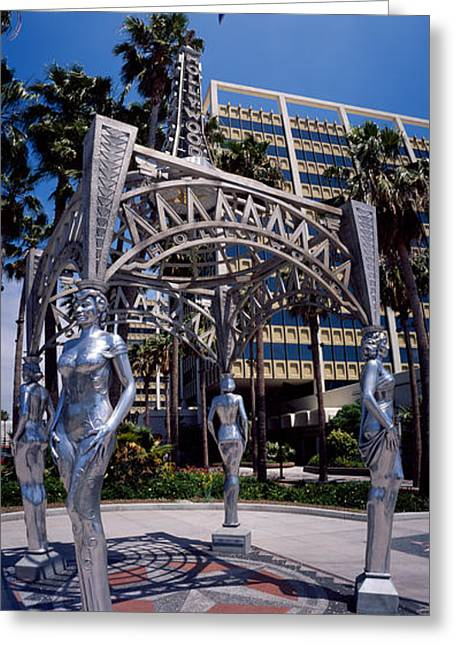 California Art Greeting Cards - Hollywood Boulevard Los Angeles Ca Greeting Card by Panoramic Images
