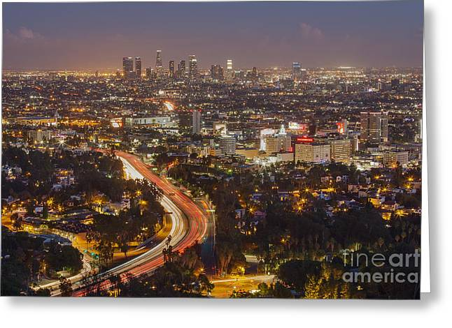 Hollywood Bowl Greeting Cards - Hollywood Bowl Overlook Greeting Card by Shishir Sathe