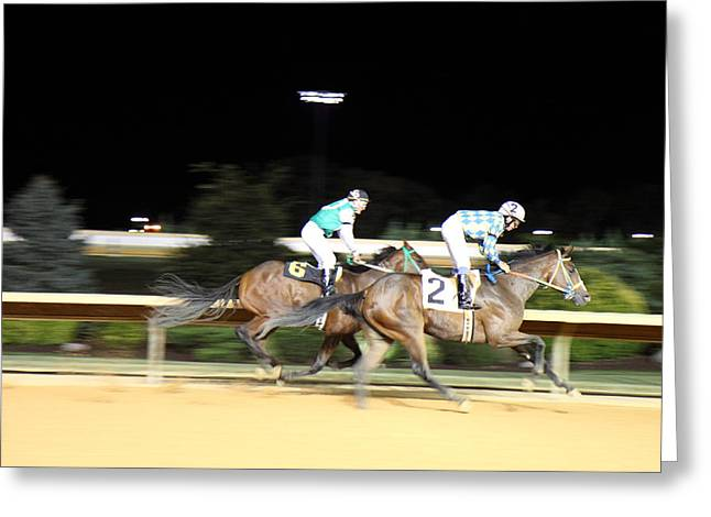 Ponies Greeting Cards - Hollywood Casino at Charles Town Races - 121212 Greeting Card by DC Photographer