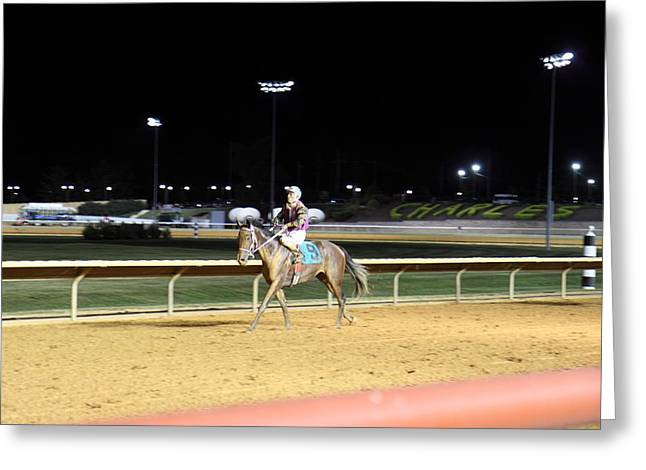 Horse Photographs Greeting Cards - Hollywood Casino at Charles Town Races - 121223 Greeting Card by DC Photographer