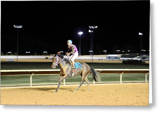 Horses Greeting Cards - Hollywood Casino at Charles Town Races - 121224 Greeting Card by DC Photographer