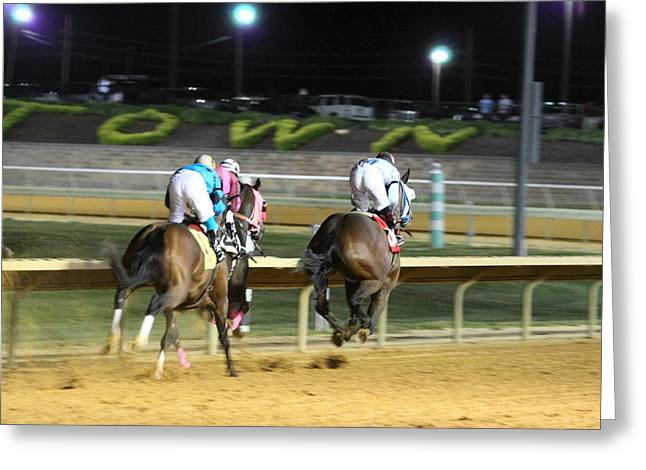 Horse Photographs Greeting Cards - Hollywood Casino at Charles Town Races - 121249 Greeting Card by DC Photographer