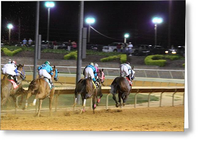 Horses Greeting Cards - Hollywood Casino at Charles Town Races - 121251 Greeting Card by DC Photographer