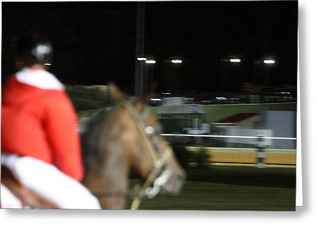 Horse Photographs Greeting Cards - Hollywood Casino at Charles Town Races - 121257 Greeting Card by DC Photographer