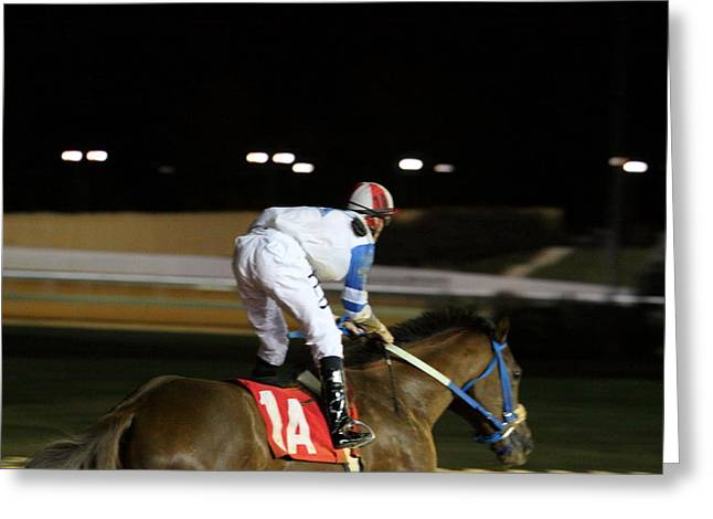Horse Greeting Cards - Hollywood Casino at Charles Town Races - 121262 Greeting Card by DC Photographer