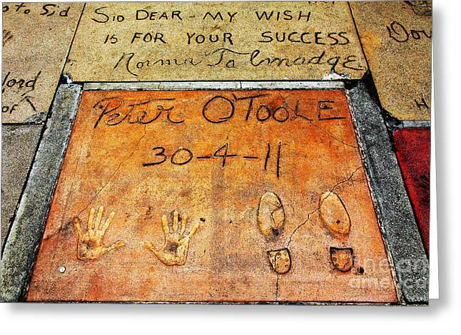 Theater Greeting Cards - Hollywood Chinese Theatre Peter OToole 5D28997 Greeting Card by Wingsdomain Art and Photography