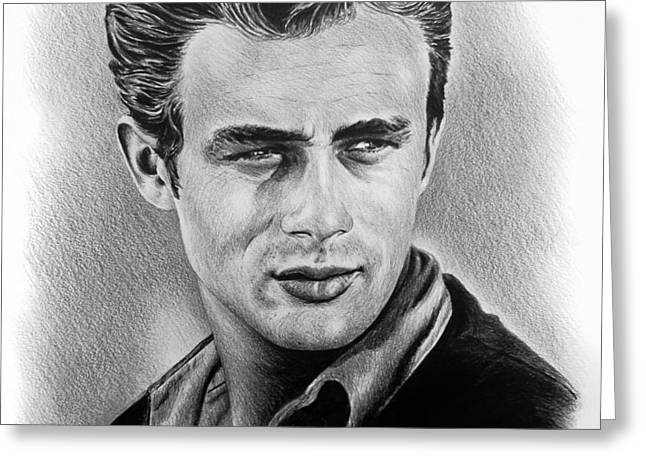 Hollywood Greats James Dean Greeting Card by Andrew Read