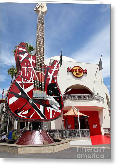 Hard Rock Cafe Greeting Cards - Hollywood Hard Rock Cafe in Los Angeles California 5D28422 Greeting Card by Wingsdomain Art and Photography