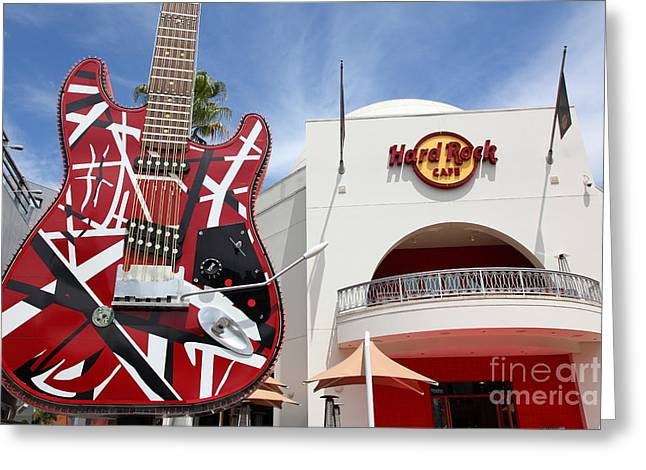 Hard Rock Cafe Greeting Cards - Hollywood Hard Rock Cafe in Los Angeles California 5D28423 Greeting Card by Wingsdomain Art and Photography