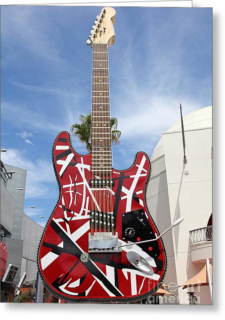 Hard Rock Cafe Greeting Cards - Hollywood Hard Rock Cafe in Los Angeles California 5D28424 Greeting Card by Wingsdomain Art and Photography