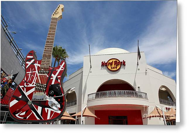 Hard Rock Cafe Greeting Cards - Hollywood Hard Rock Cafe in Los Angeles California 5D28429 Greeting Card by Wingsdomain Art and Photography