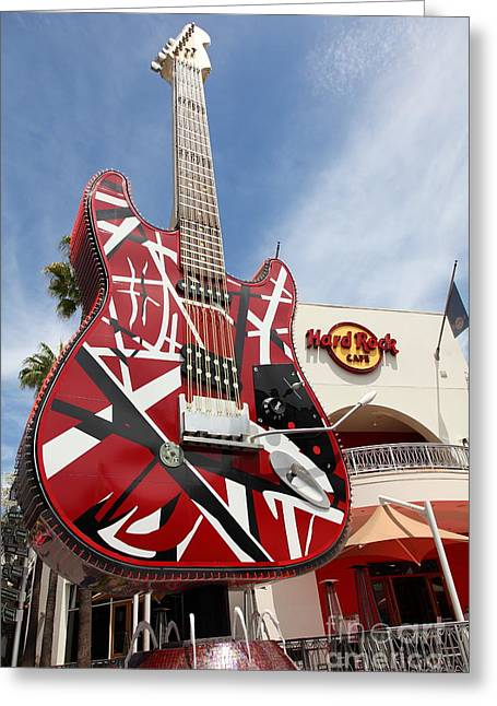 Hard Rock Cafe Greeting Cards - Hollywood Hard Rock Cafe in Los Angeles California 5D28434 Greeting Card by Wingsdomain Art and Photography