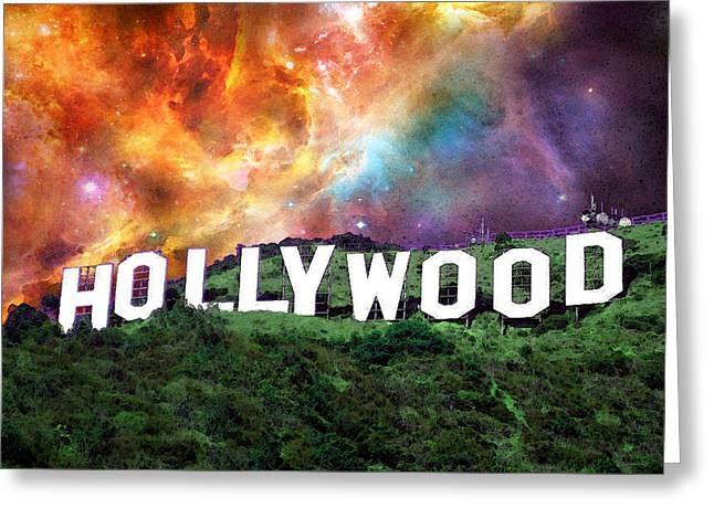 Motion Picture Greeting Cards - Hollywood - Home of the Stars by Sharon Cummings Greeting Card by Sharon Cummings