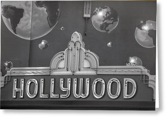 Hollywood Walk Of Fame Greeting Cards - Hollywood Landmarks - Hollywood Theater Marquee Greeting Card by Art Block Collections