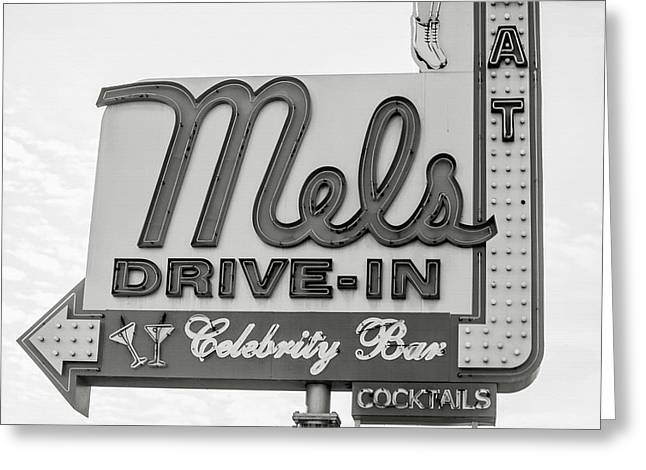 Hollywood Landmarks - Mel's Drive-in Greeting Card by Art Block Collections