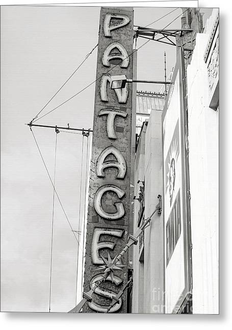 Movie Art Photographs Greeting Cards - Hollywood Landmarks - Pantages Theater Greeting Card by Art Block Collections