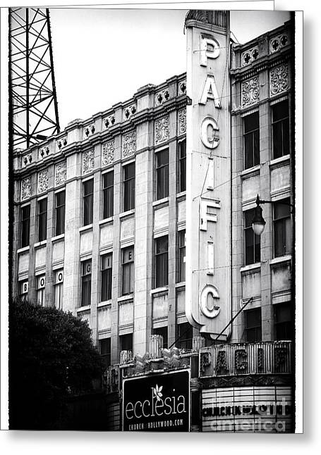 Recently Sold -  - Historical Images Greeting Cards - Hollywood Pacific Theater Greeting Card by John Rizzuto