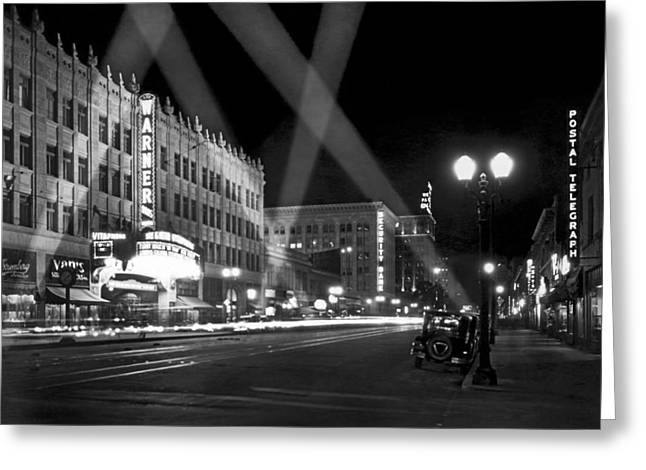 Hollywood Premier Greeting Card by Underwood Archives