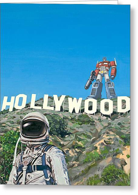 Science Fiction Greeting Cards - Hollywood Prime Greeting Card by Scott Listfield
