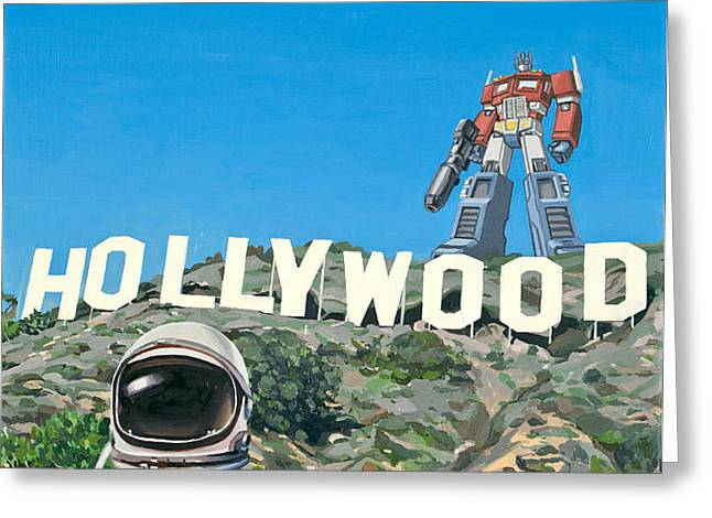 Hollywood Prime Greeting Card by Scott Listfield