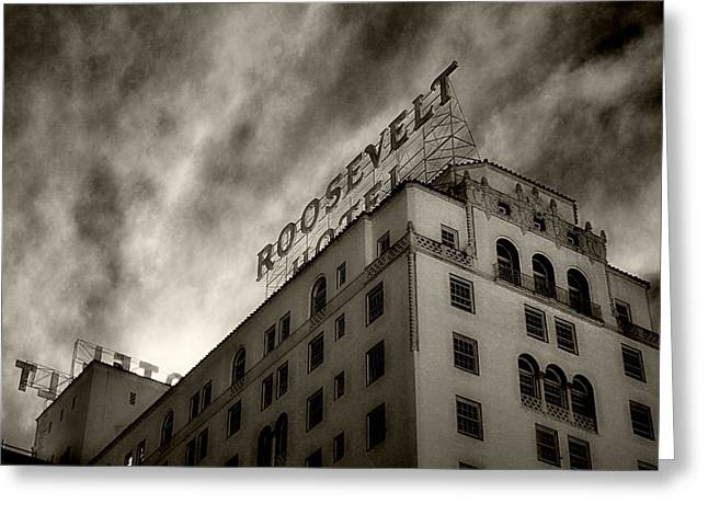 Cindy Nunn Greeting Cards - Hollywood Roosevelt Hotel 7 Greeting Card by Cindy Nunn