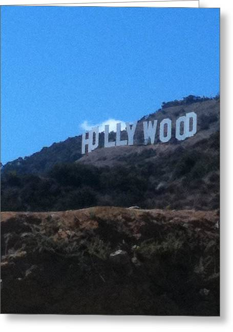 Santa Monica Pyrography Greeting Cards - Hollywood Greeting Card by Selia Hansen