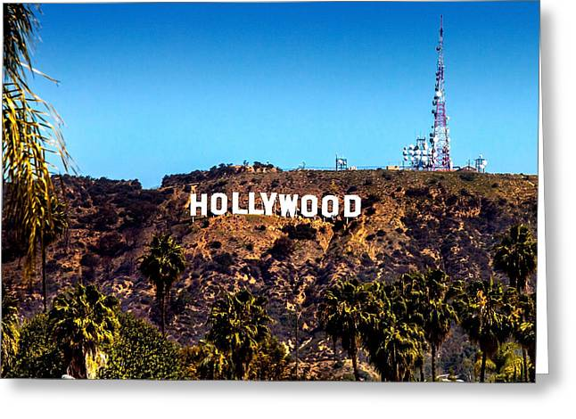 Jackson Greeting Cards - Hollywood Sign Greeting Card by Az Jackson