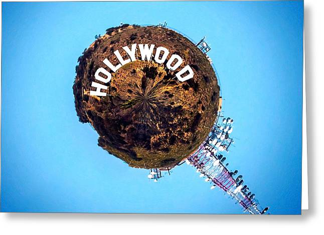 California Art Greeting Cards - Hollywood sign Circagraph Greeting Card by Az Jackson