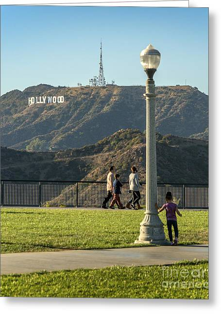 Clear Sky Images Greeting Cards - Hollywood Sign from Griffith Greeting Card by Clear Sky Images