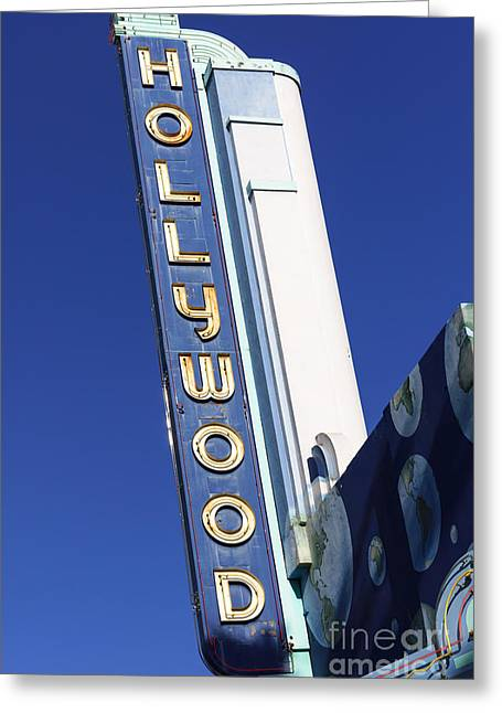 Signed Photographs Greeting Cards - Hollywood Sign in Hollywood California Greeting Card by Paul Velgos