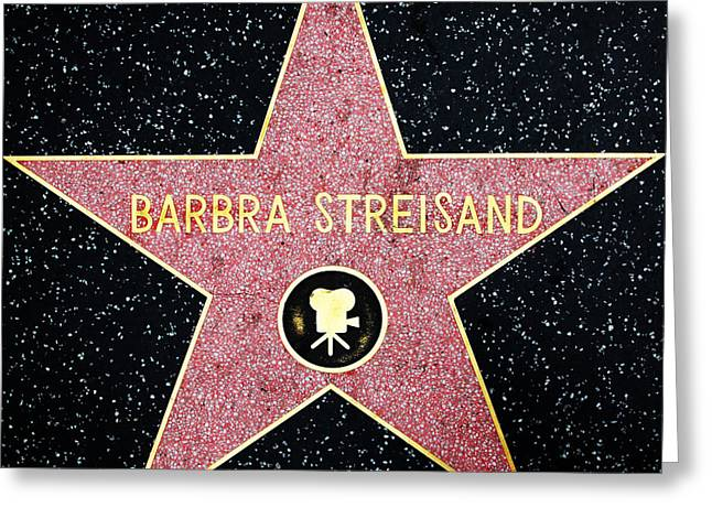 Hollywood Walk Of Fame Barbra Streisand 5d28986 Greeting Card by Wingsdomain Art and Photography