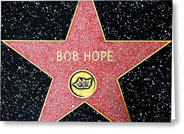 Comedian Greeting Cards - Hollywood Walk of Fame Bob Hope 5D28954 Greeting Card by Wingsdomain Art and Photography