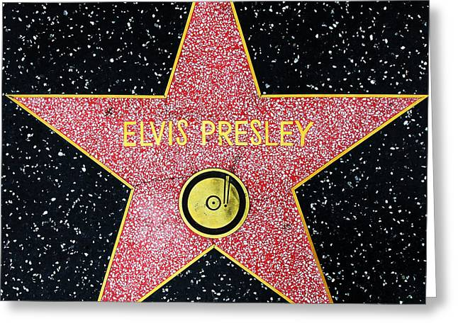 Elvis Icon Greeting Cards - Hollywood Walk of Fame Elvis Presley 5D28923 Greeting Card by Wingsdomain Art and Photography