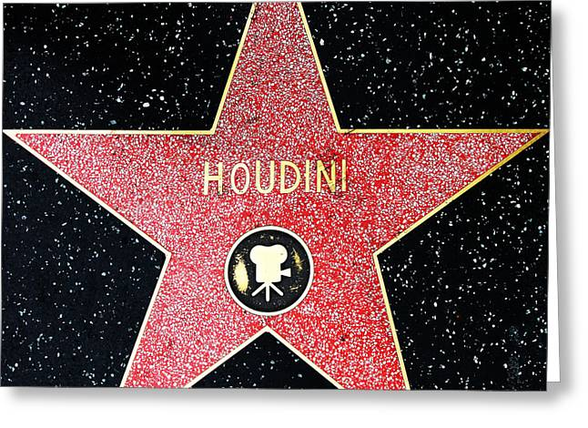 Hollywood Walk Of Fame Greeting Cards - Hollywood Walk of Fame Harry Houdini 5D28966 Greeting Card by Wingsdomain Art and Photography