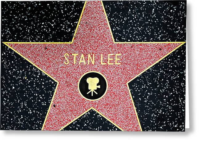 Marvel Comics Photographs Greeting Cards - Hollywood Walk of Fame Stan Lee 5D28914 Greeting Card by Wingsdomain Art and Photography