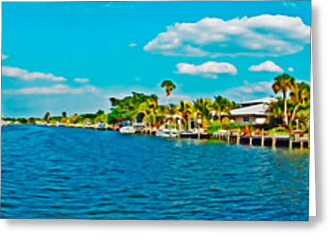 Holmes Beach Canal Daytime Greeting Card by Rolf Bertram