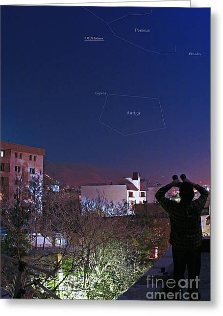 Tehran Greeting Cards - Holmes Comet Greeting Card by Babak Tafreshi