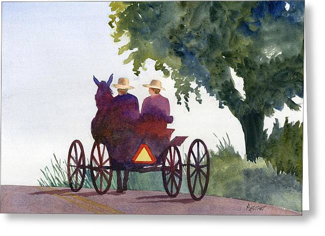 Amish Greeting Cards - Holmes County Ohio Greeting Card by Marsha Elliott