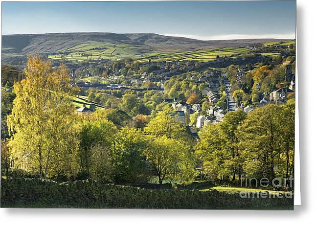 West Yorkshire Greeting Cards - Holmfirth and The Holme Valley Greeting Card by John Potter