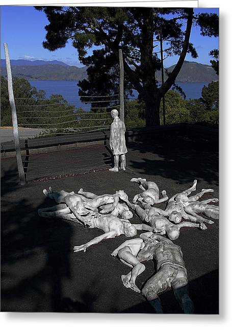 Detention Greeting Cards - HOLOCAUST MEMORIAL in SAN FRANCISCO Greeting Card by Daniel Hagerman