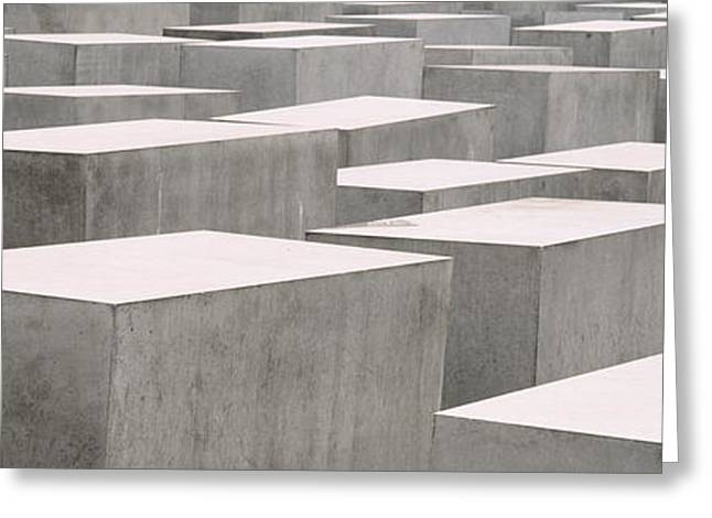 Repetition Greeting Cards - Holocaust Memorial, Monument Greeting Card by Panoramic Images